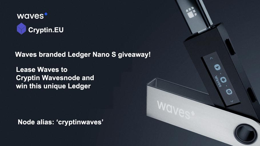 Waves branded Ledger Nano S giveaway!